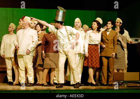 Welsh National Opera production of WOZZECK by Alban Berg performed at Wales Millennium Centre Cardiff Bay South - Stock Photo