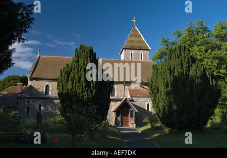 Davington church Faversham Kent England - Stock Photo