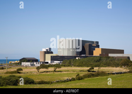 Wylfa Nuclear Power Station exterior atomic energy provider on north coast of Isle of Anglesey North Wales UK Britain. - Stock Photo