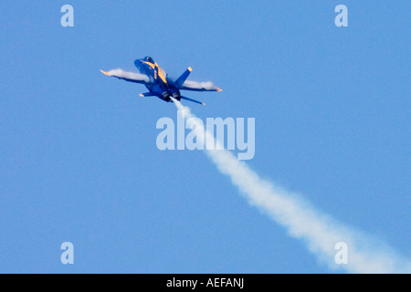 Blue Angels flyby during Fleet Week  in San Francisco - Stock Photo