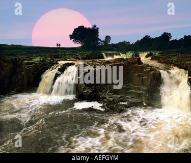 GB - COUNTY DURHAM: Low Force Falls in Teesdale - Stock Photo