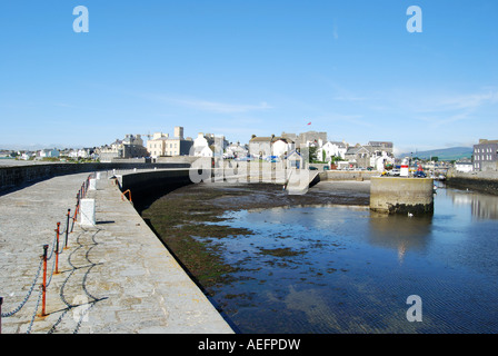 castle from the harbour at castletown isle of man number 2545 - Stock Photo
