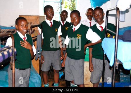 Six young students at Maseno School Kenya East Africa - Stock Photo