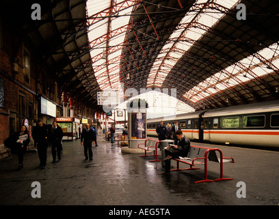 Bristol Temple Meads Railway Station Bristol designed by Isambard Kingdom Brunel - Stock Photo