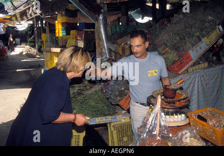 Tunisia Tunis selling spices at a local market - Stock Photo