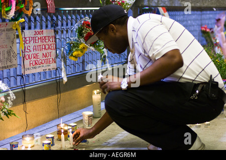 World Trade Center site, Sept. 11, 2005. - Stock Photo