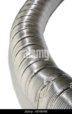 Metal Chimney flue piping - Stock Photo