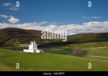 The strategic landmark historical small Corgarff Castle or tower house in the landscapes of Strathdon, Aberdeenshire, - Stock Photo