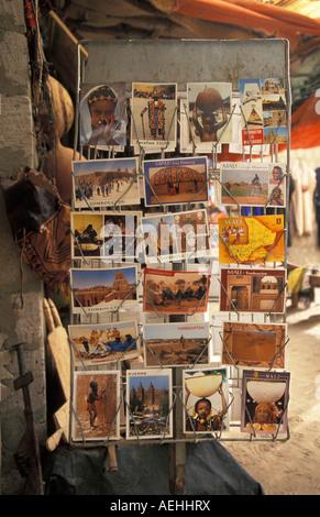 Mali Timbuktu Postcard displayed for sale - Stock Photo