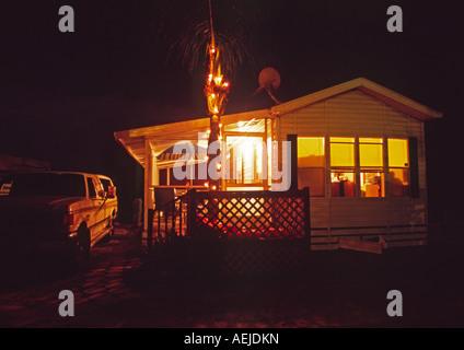 Mobile Home In A Florida USA Trailer RV Park