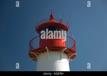 List West light house, Ellenbogen, Sylt, Schleswig-Holstein, Germany - Stock Photo