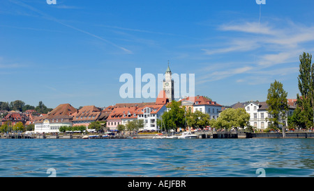 Ueberlingen - promenade and old part of town - Baden Wuerttemberg, Germany, Europe. - Stock Photo