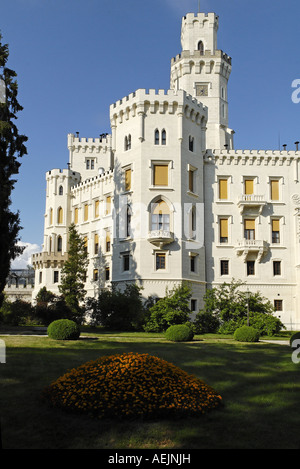 Hluboka castle, Bohemia, Czech Republik - Stock Photo