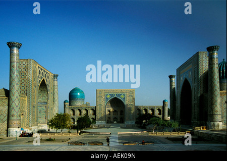 Registan square in Samarkand, Uzbekistan - Stock Photo
