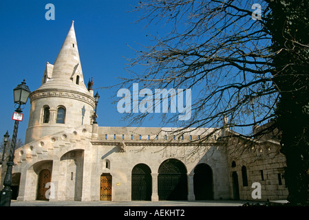Fishermen's Bastion and Museum, Trinity Square, Castle Hill District, Budapest, Hungary - Stock Photo