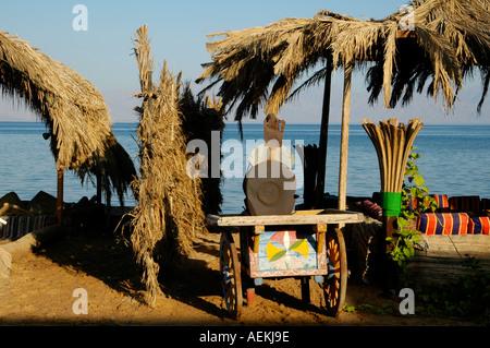 Nuweiba Tarabin beach in the eastern part of Sinai Peninsula, Red Sea coast Egypt - Stock Photo