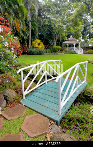 Gardens with gazebo at Maui Tropical Plantation Maui Hawaii Stock ...