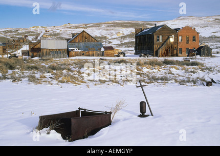 Bodie Ghost Town National Historic Landmark in winter - Stock Photo
