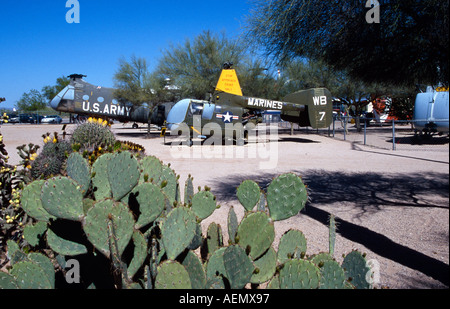 historic us army helicopters at pima air and space museum tucson arizona usa - Stock Photo