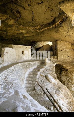 Gila Cliff Dwellings New Mexico USA - Stock Photo