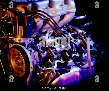 still life of internal combustion engine with color - Stock Photo