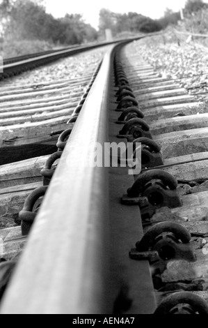 An old Industrial rail track - Stock Photo
