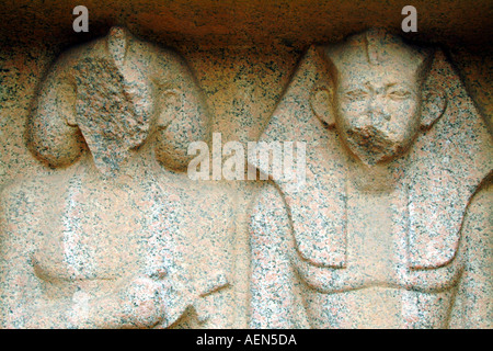 damaged defaced artefacts ancient egypt - Stock Photo