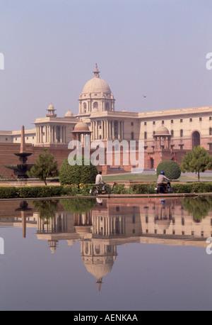 Neu Delhi, Parlament, Sitz des Premierminister - Stock Photo