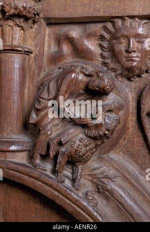 Köln, Dom, Detail des Chorgestühls - Stock Photo