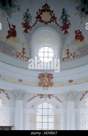 Holzkirchen, ehemalige Probsteikirche, Fensterdetail - Stock Photo