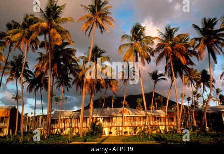 hotel four seasons at evening island of nevis archipelago of the lesser antilles caribbean editorial use only - Stock Photo