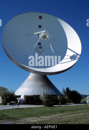 Raisting, Erdfunkstelle der Telekom, Antenne - Stock Photo