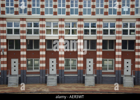 newly built houses with repetitive pattern Helmond Netherlands - Stock Photo