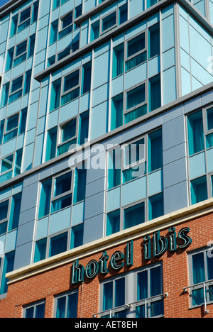 Close up of exterior of Hotel IBIS Friar Street Reading Berkshire England - Stock Photo