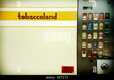 Tobaccoland cigarette vending machine in Berlin Germany Europe - Image taken on a Lomo camera - Stock Photo
