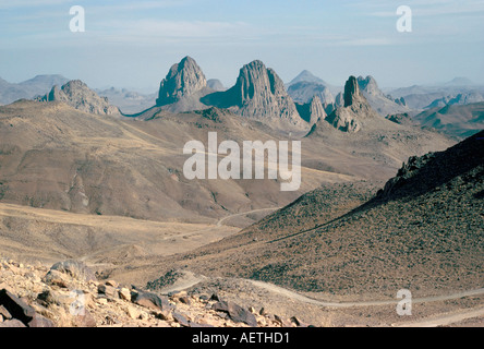 Hoggar Mountains Algeria North Africa Africa - Stock Photo