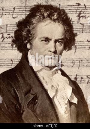 Ludwig van Beethoven. Illustration - Stock Photo