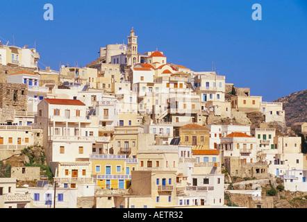 Olymbos Olimbos village Karpathos Dodecanese islands Greece Mediterranean Europe - Stock Photo
