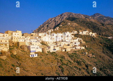 Olymbos Olimbos village Karpathos Dodecanese islands Greece Mediterranean Europe - Stock Photo