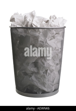 Still life of trash can - Stock Photo
