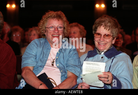 Elderly at a conference for increased pensioners rights, Winter Gardens, Blackpool, UK. - Stock Photo