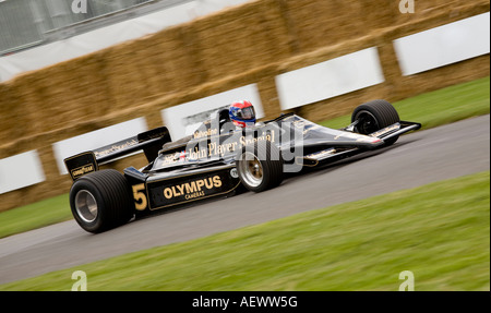 1978 Lotus-Cosworth 79 Formula 1 car at the 2007 Goodwood Festival of Speed Sussex UK