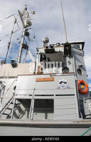 Alta M314, Norwegian minesweeper, in Oslo Harbour, Norway - Stock Photo