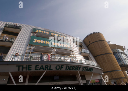 Earl derby and lord sefton stands Aintree liverpool - Stock Photo