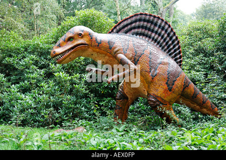 Life size model dinosaur Spinosaurus - Stock Photo