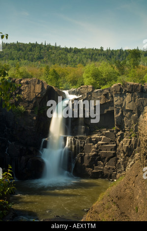 HIGH FALLS ON THE PIGEON RIVER MINNESOTA CANADIAN BORDER - Stock Photo