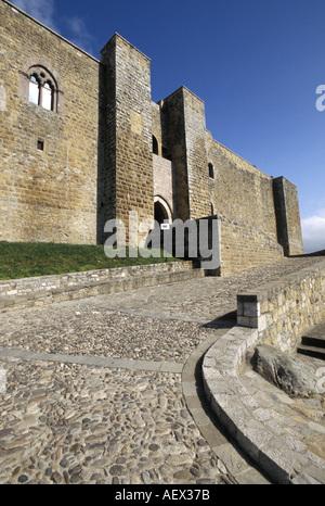 Swabian castle Castel Lagopesole Basilicata Italy - Stock Photo
