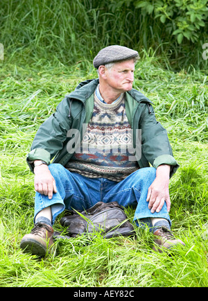 Man Taking a Rest - Stock Photo