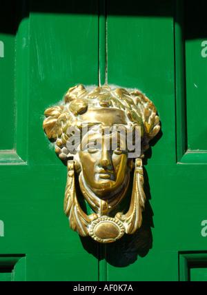 Green Door In Merrion Square Dublin Ireland Stock Photo
