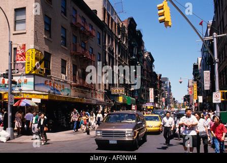 New York City Lower Manhattan Chinatown Ethnic Quarter East Side NYC USA - Stock Photo